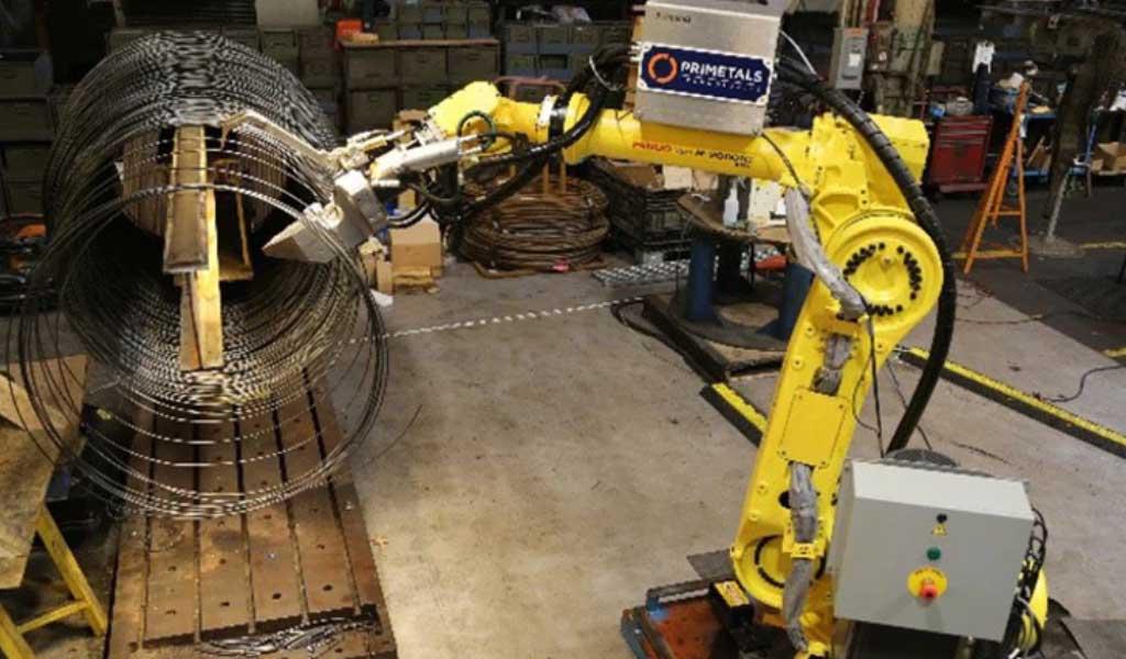 Desafío en la robótica en la industria de los metales